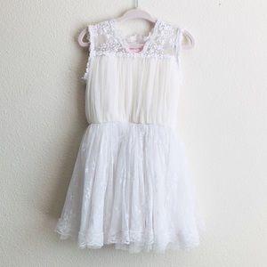 Popatu ivory lace tulle mini dress - 2T/3T